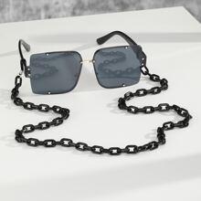 Maenner Randlose Sonnenbrille & Brillenkette