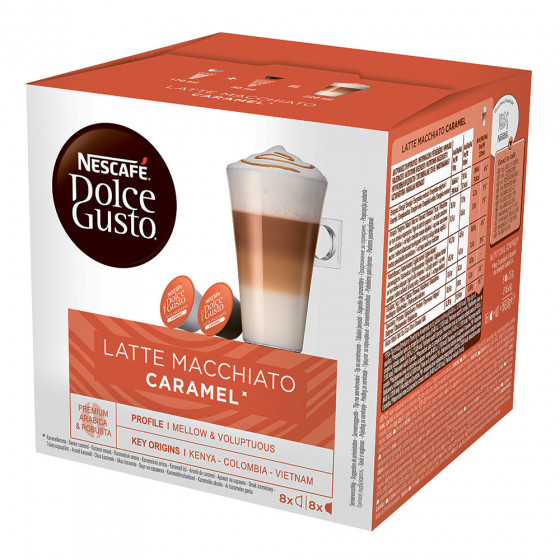 """Kaffeekapseln NESCAFE Dolce Gusto """"Caramel Latte Macchiato"""", 8+8 Stk."""