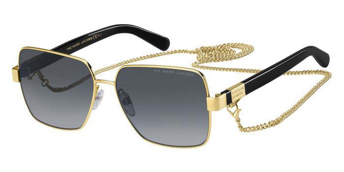 Marc Jacobs MARC 495/S J5G/9O Women's Sunglasses Gold Size 58