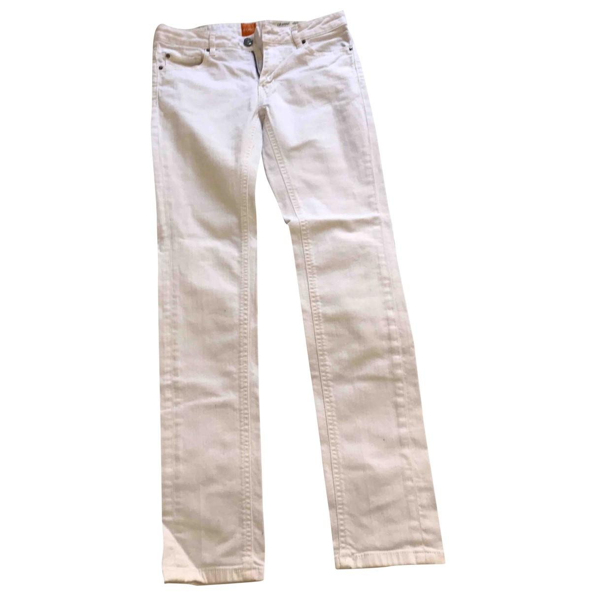 Boss Orange \N White Cotton Jeans for Women 26 US