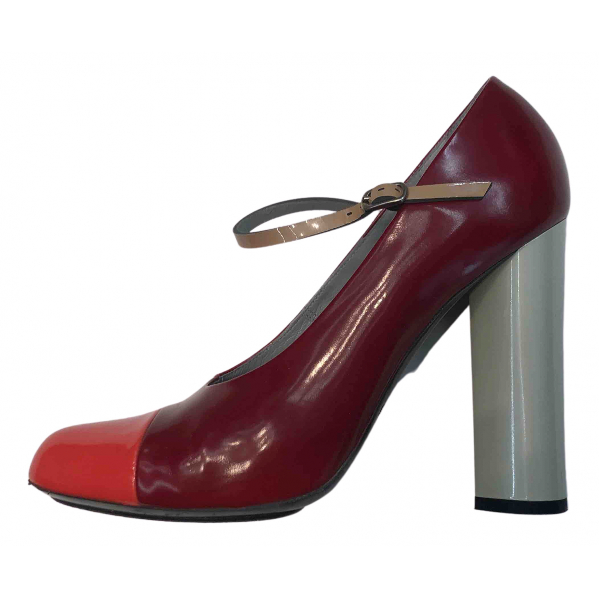 Marc Jacobs N Burgundy Patent leather Heels for Women 38.5 IT