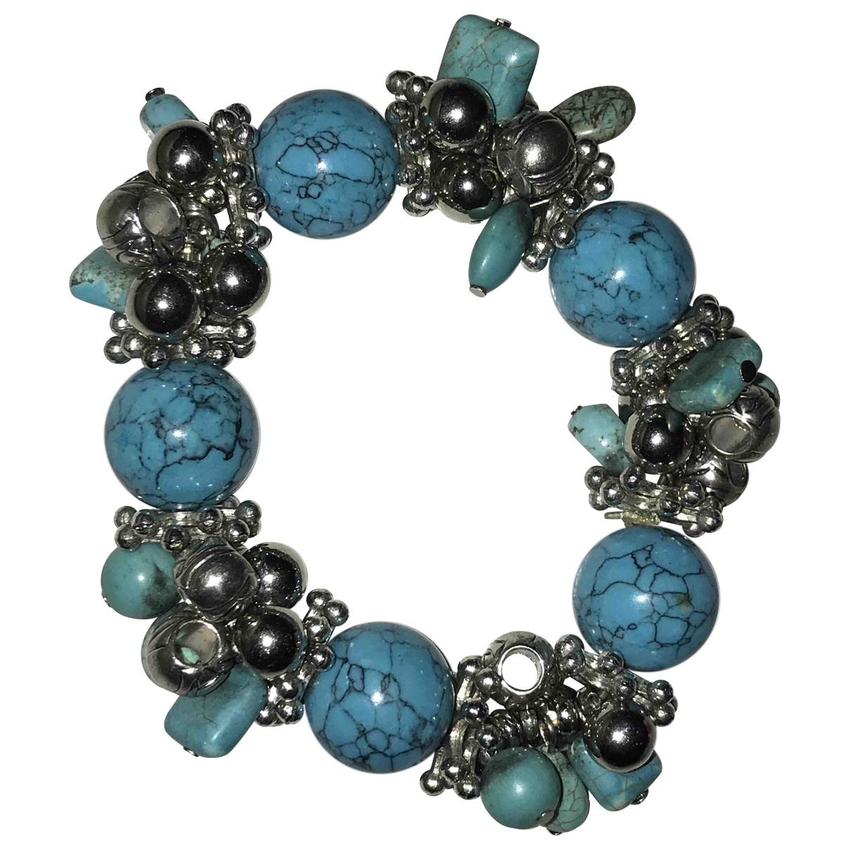 Non Signe / Unsigned Turquoises Armband Blau