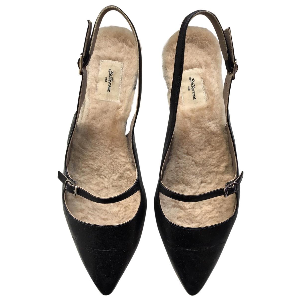 Bellerose - Escarpins   pour femme en cuir - noir