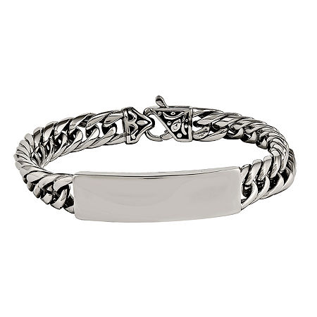 Mens Stainless Steel ID Bracelet, One Size , No Color Family