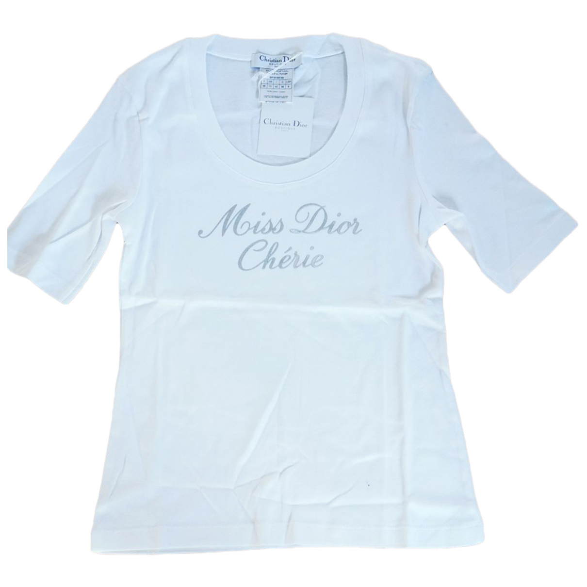 Dior \N White Cotton  top for Women 38 FR