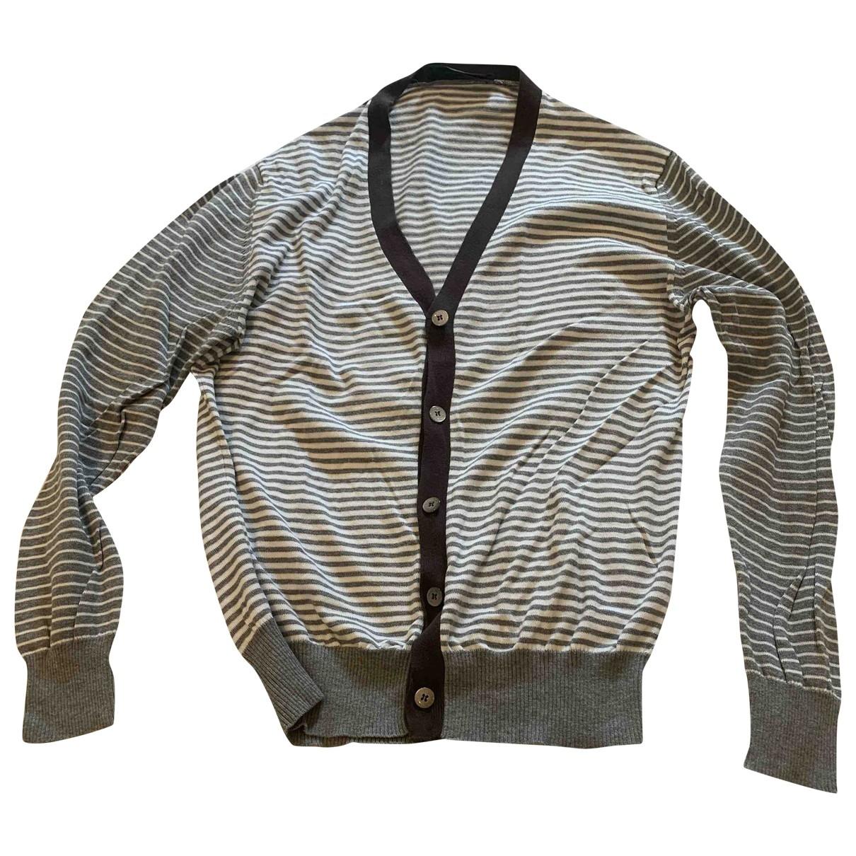 Etro \N Pullover.Westen.Sweatshirts  in  Grau Baumwolle