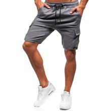 Shorts cargo de hombres con cordon con bolsillo con solapa