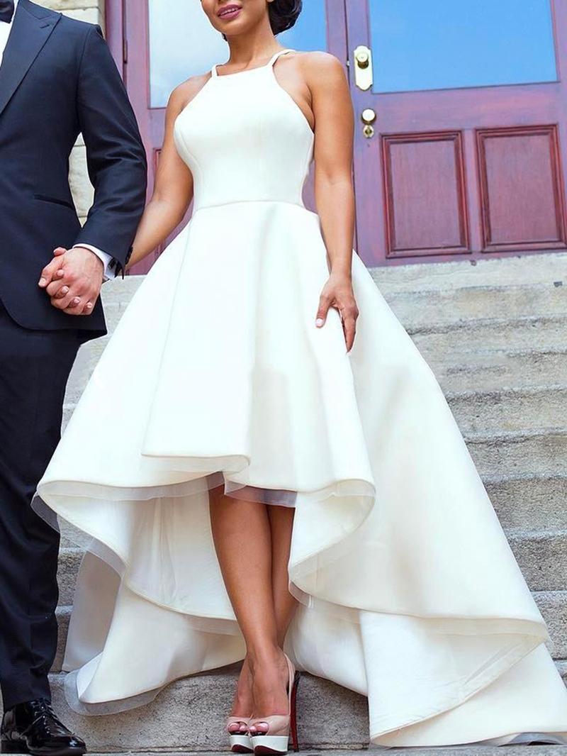Ericdress Halter High Low Beach Wedding Dress