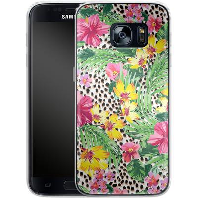 Samsung Galaxy S7 Silikon Handyhuelle - Tropical Cheetah von caseable Designs