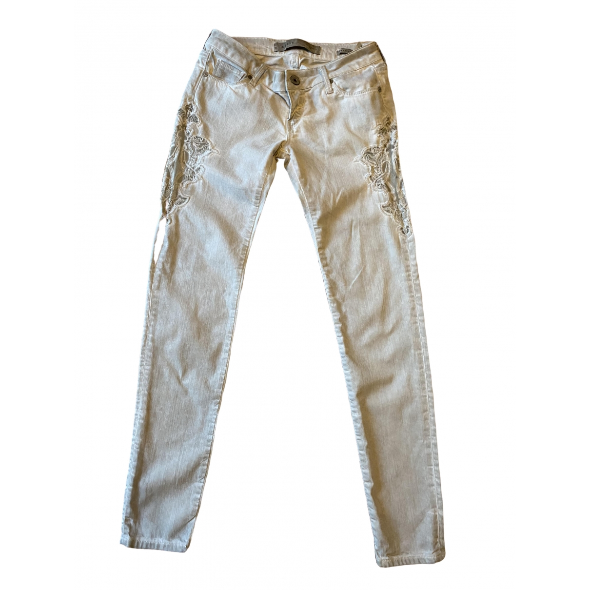 Guess \N Grey Cotton Trousers for Women 36 IT