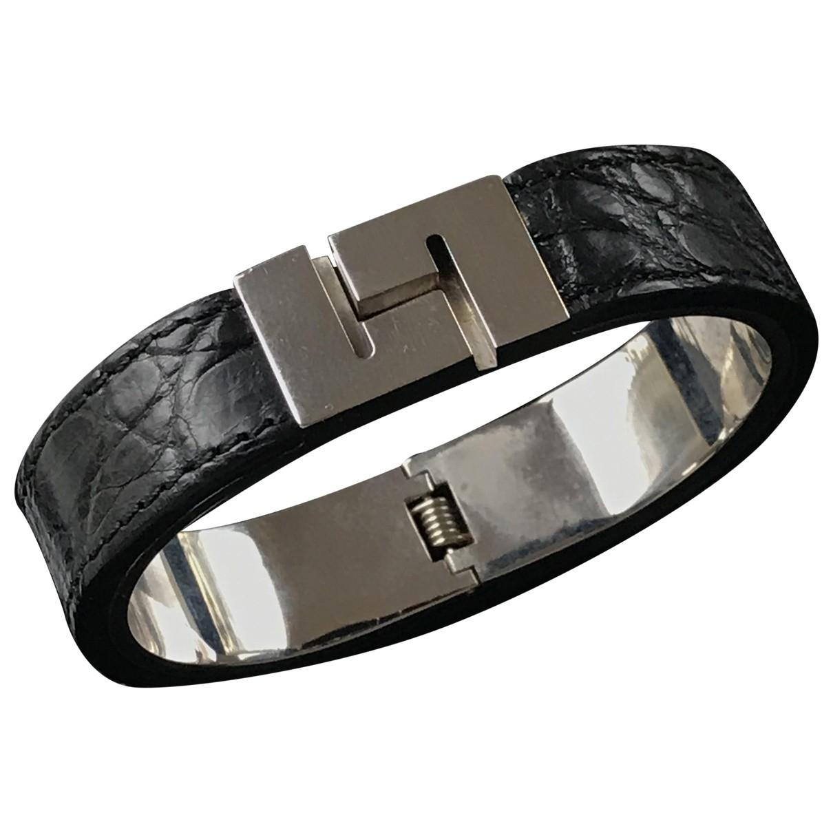 Loewe \N Armband in  Schwarz Krokodil