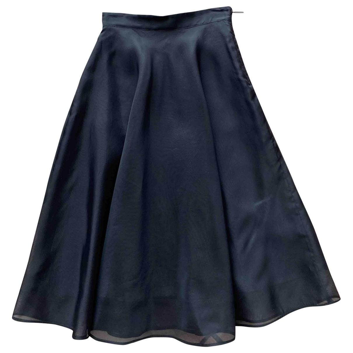 Msgm - Jupe   pour femme en soie - noir