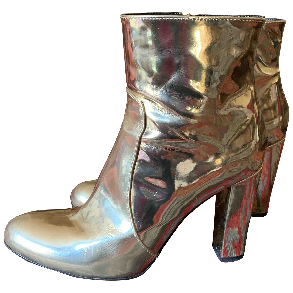 Parosh \N Gold Leather Boots for Women 41 EU