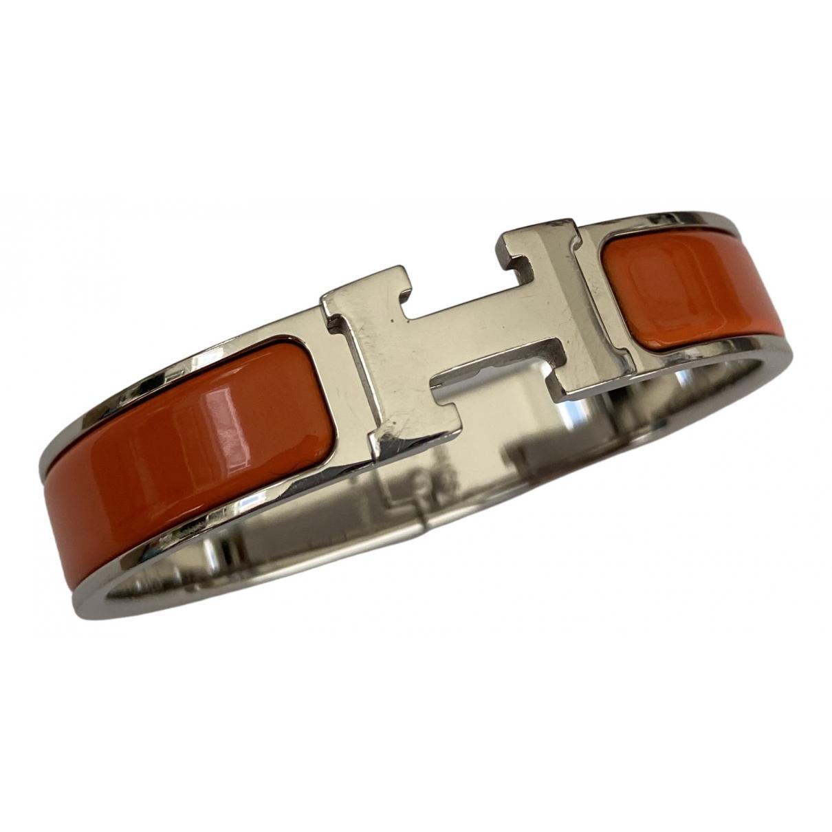 Hermes - Bracelet Clic H pour femme en argent - orange