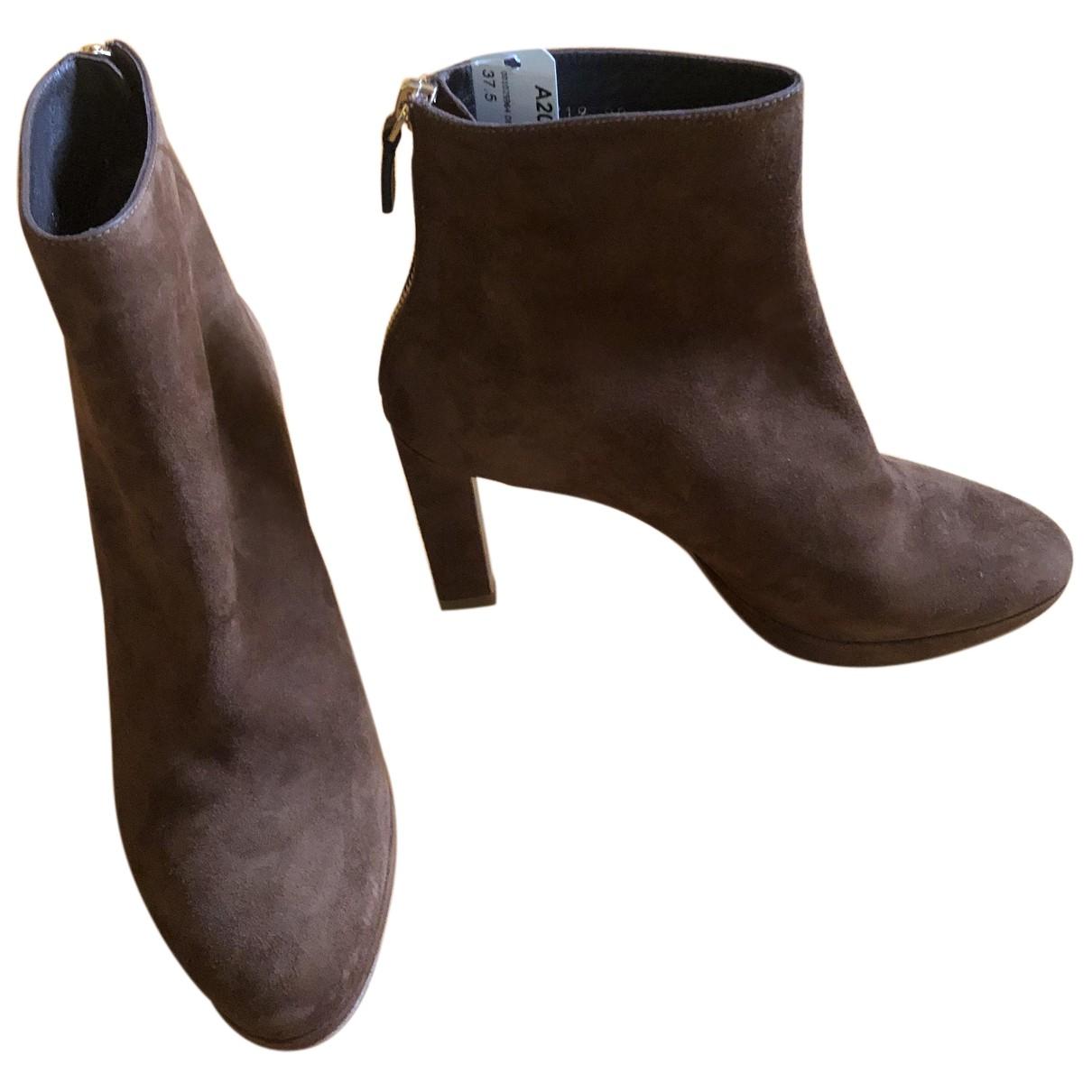 Stuart Weitzman - Boots   pour femme en suede - camel