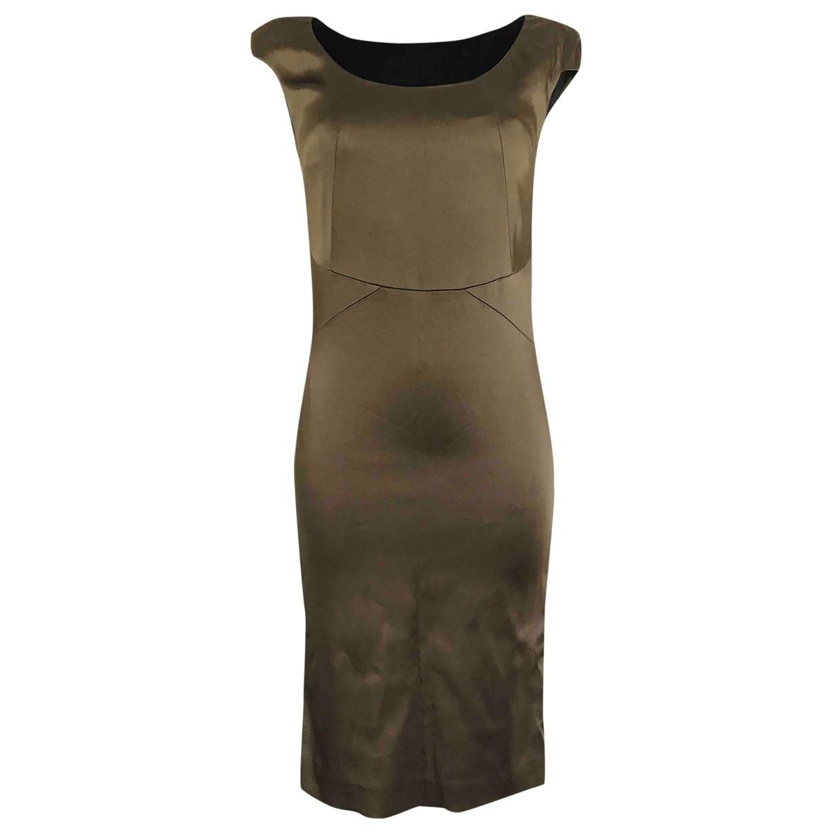 Patrizia Pepe \N Kleid in  Gold Synthetik