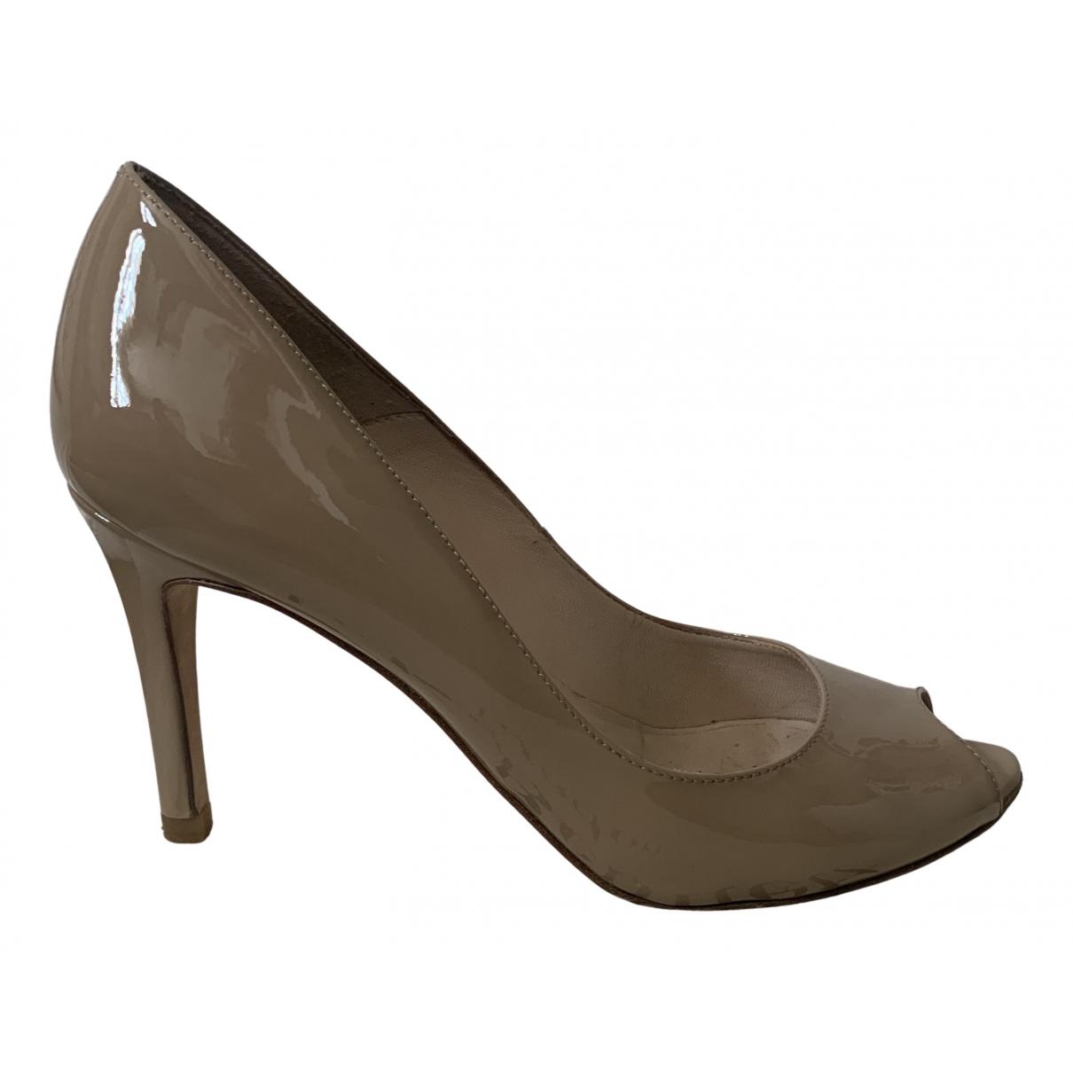 Lk Bennett N Beige Patent leather Heels for Women 4 UK