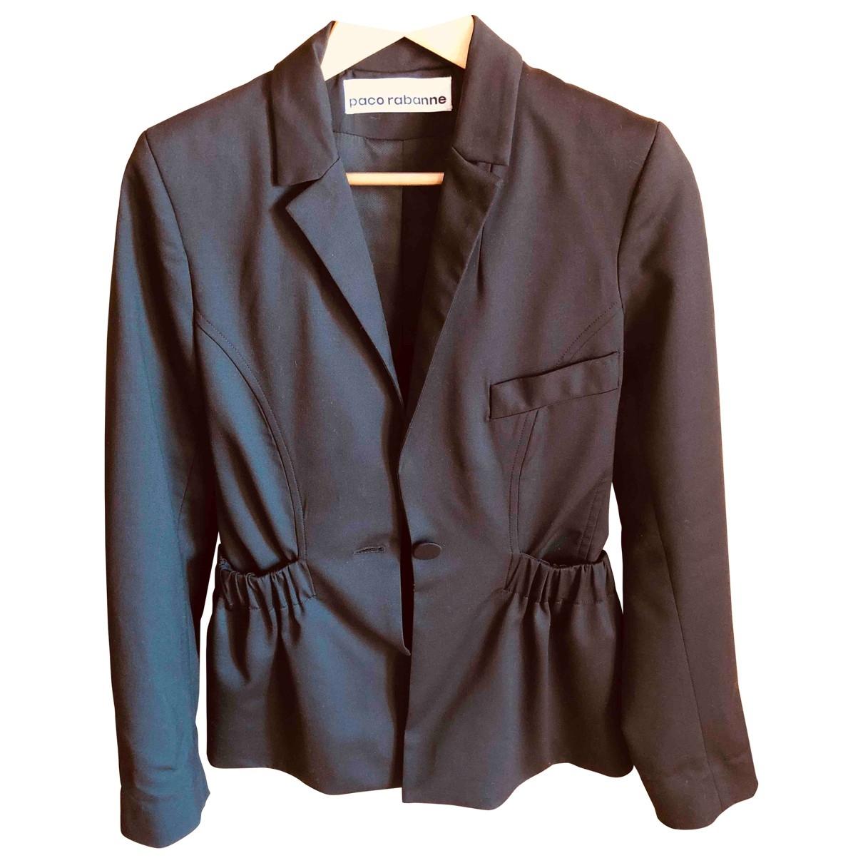 Paco Rabanne - Veste   pour femme en laine - noir
