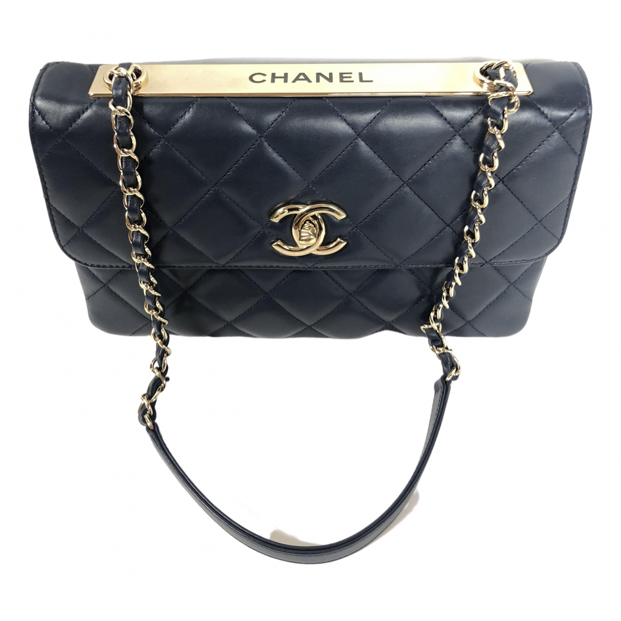 Chanel Trendy CC Navy Leather handbag for Women \N