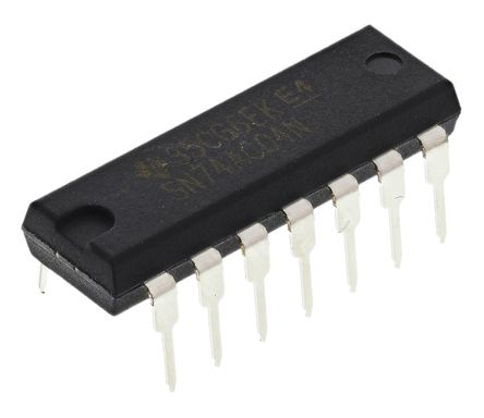 Texas Instruments SN74AC04NE4, , Hex CMOS Inverter, 14-Pin PDIP (10)