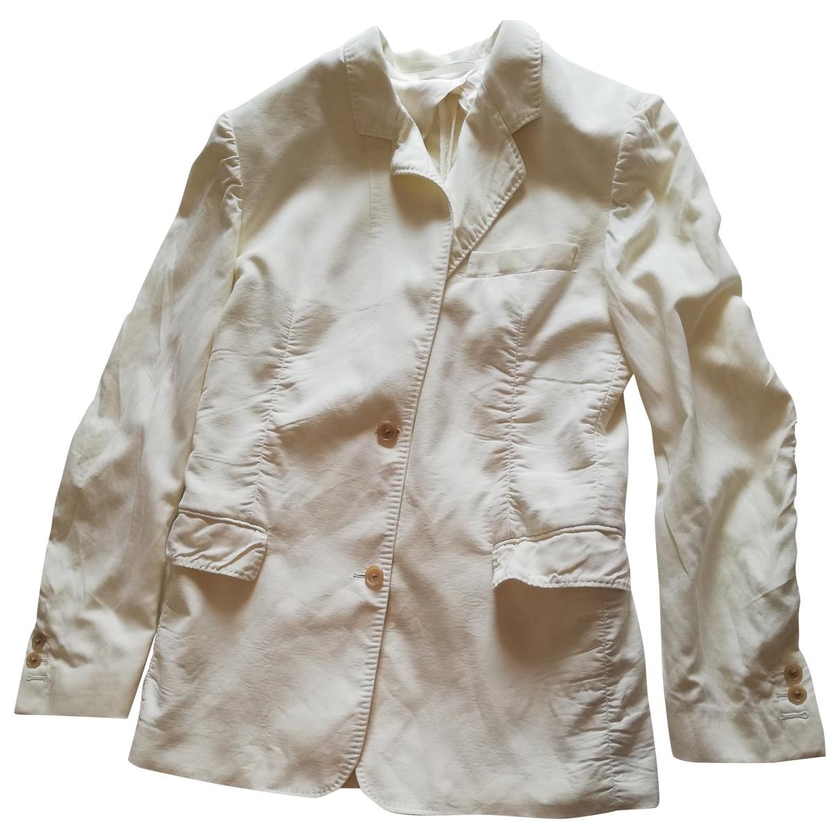 Maison Martin Margiela - Veste   pour femme en coton - beige