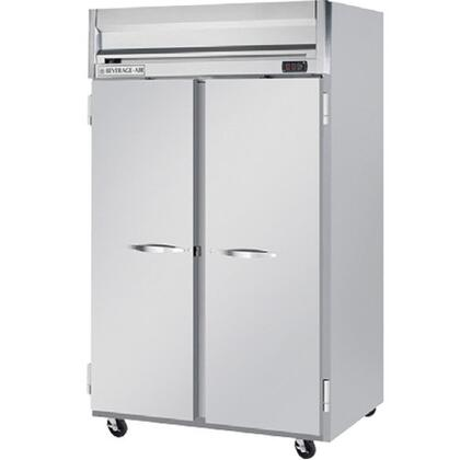 HR2-1S 55 Horizon Series Two Section Solid Door Reach-In Refrigerator  49 cu.ft. capacity  Stainless Steel Front  Gray Painted Sides  Aluminum