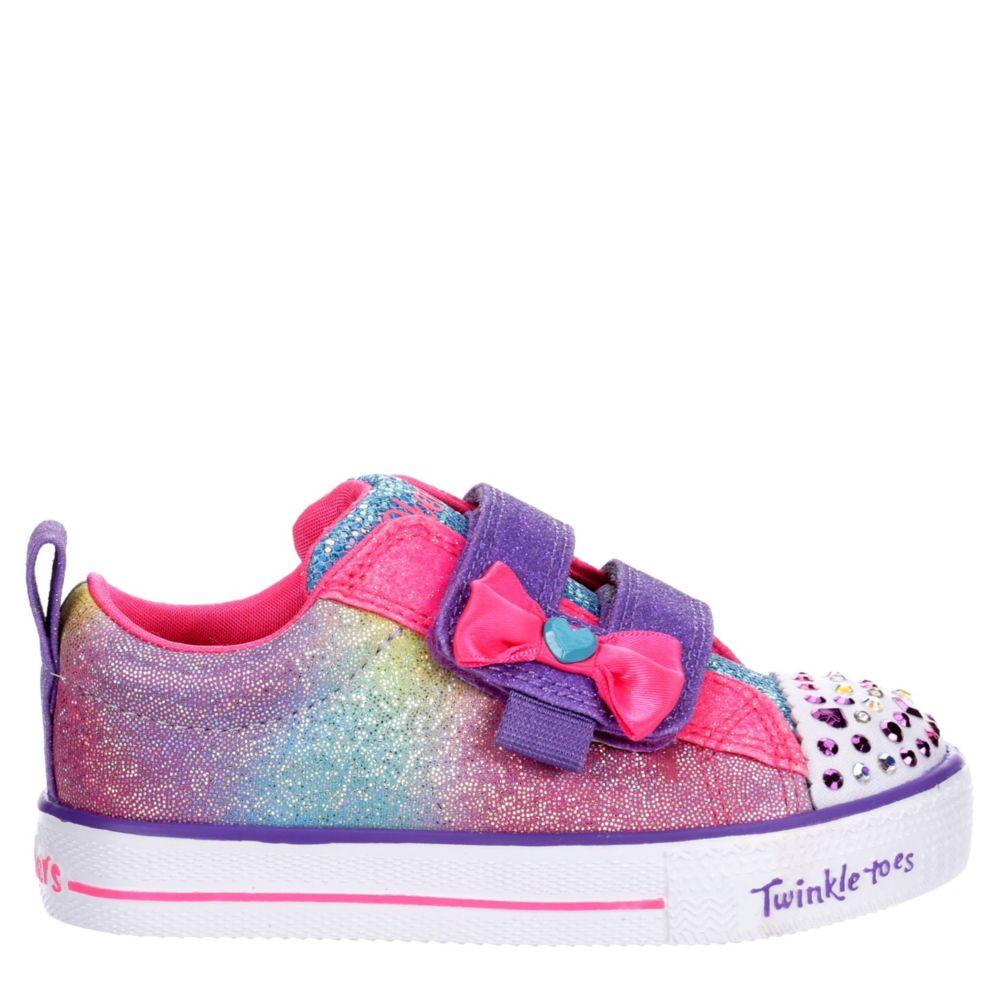 Skechers Kids Girls Twinkle Toesshuffle Lites-Sweet Supply20320N-Hpmt Shoes Sneakers
