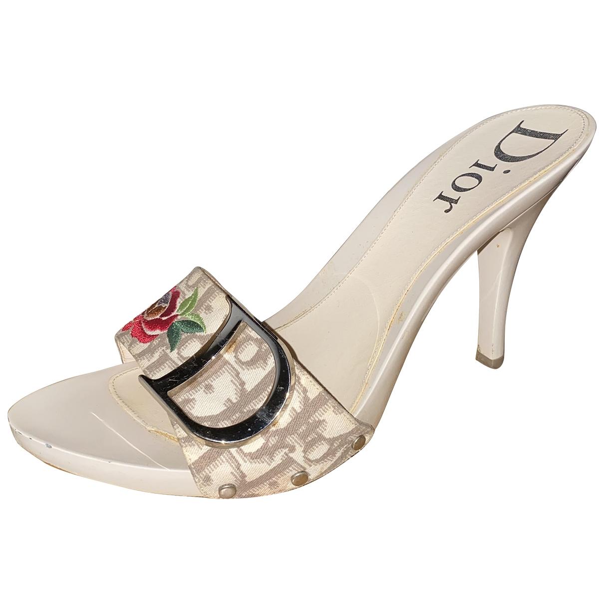 Dior - Sandales   pour femme en toile - beige