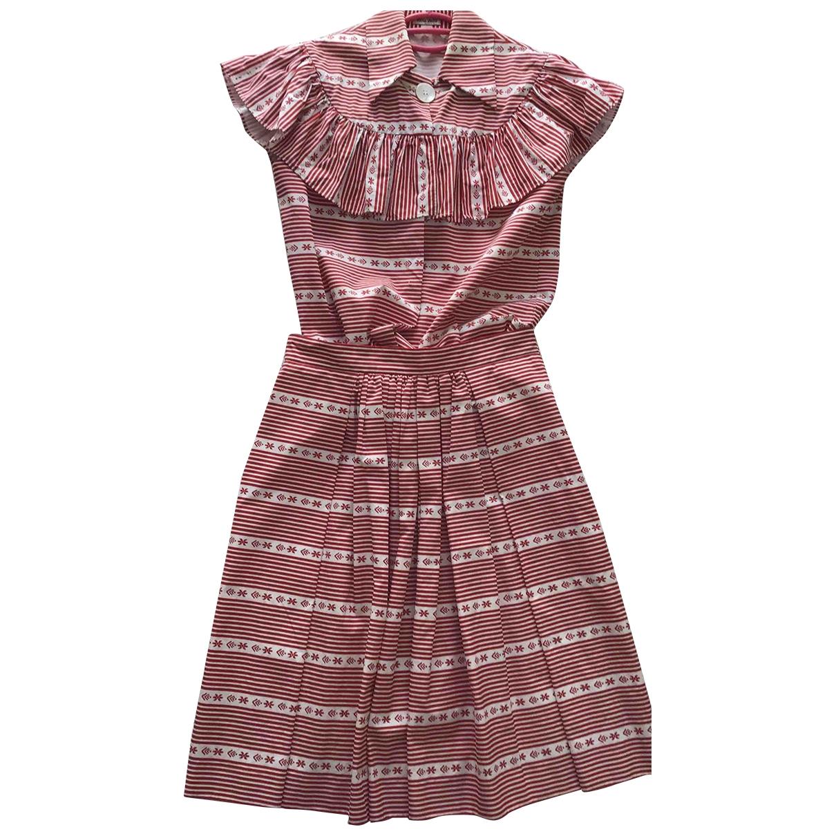 Miu Miu \N Red Cotton skirt for Women 40 IT