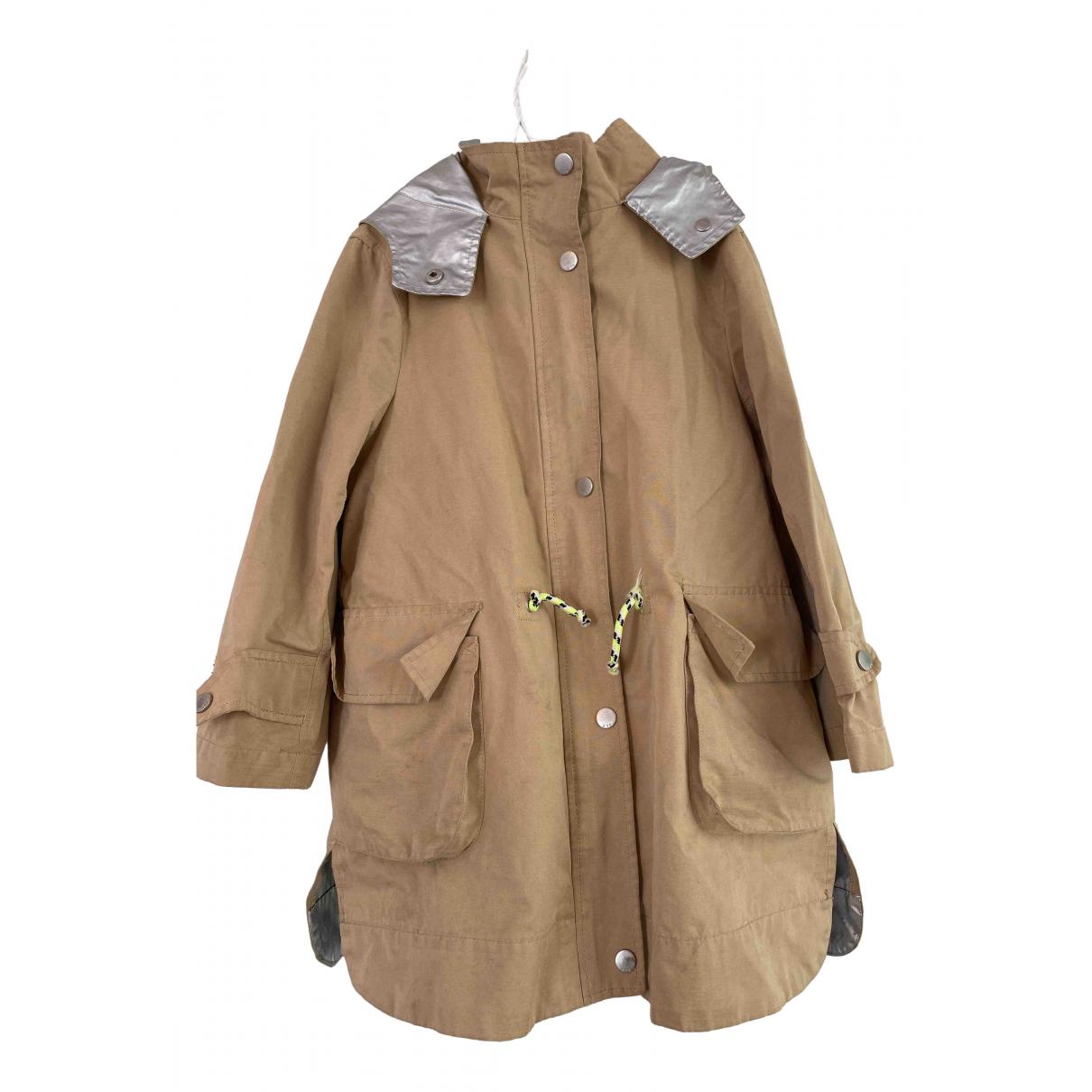 Abrigo, Chaqueta en Algodon Beige Zara