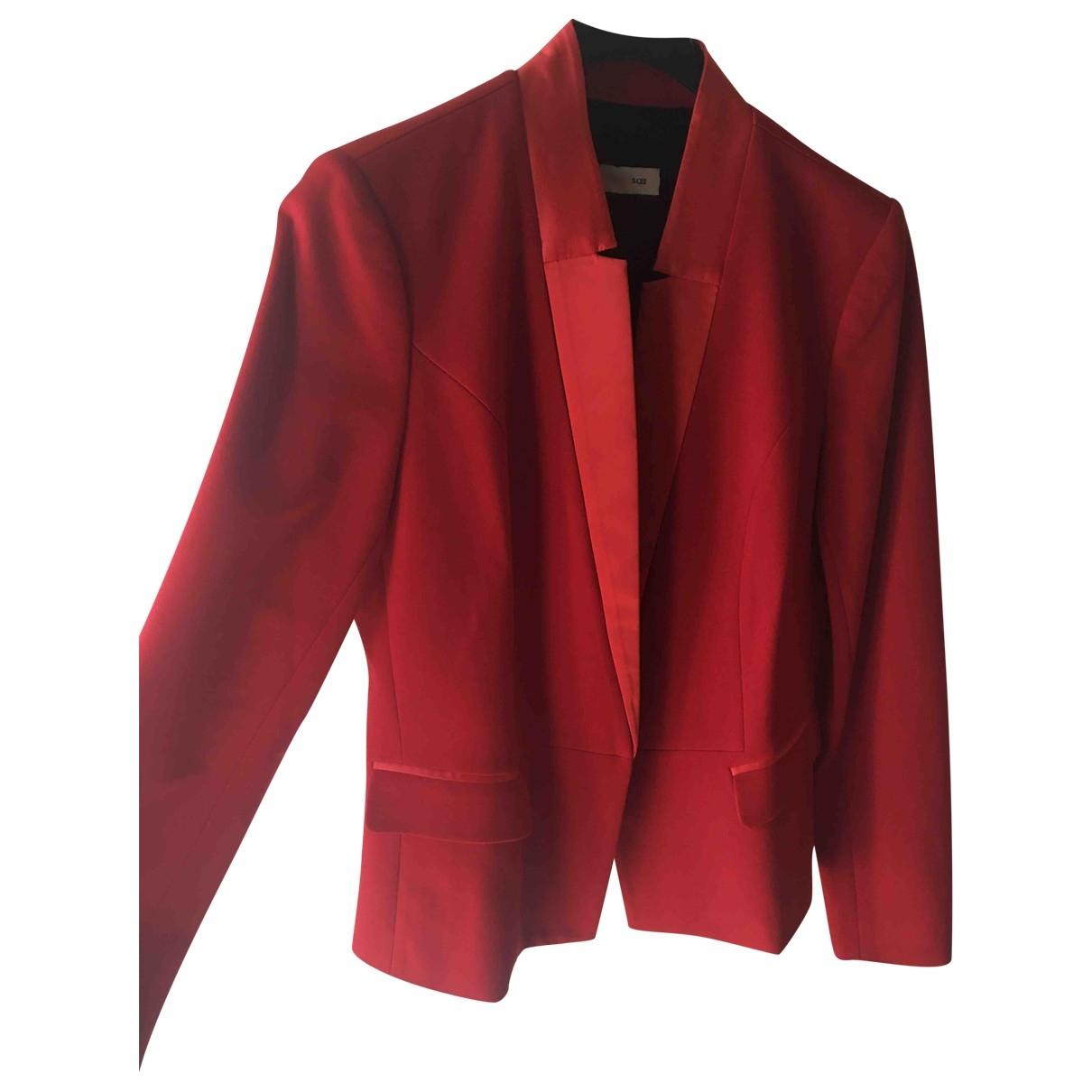 Twin Set - Veste   pour femme en coton - rouge