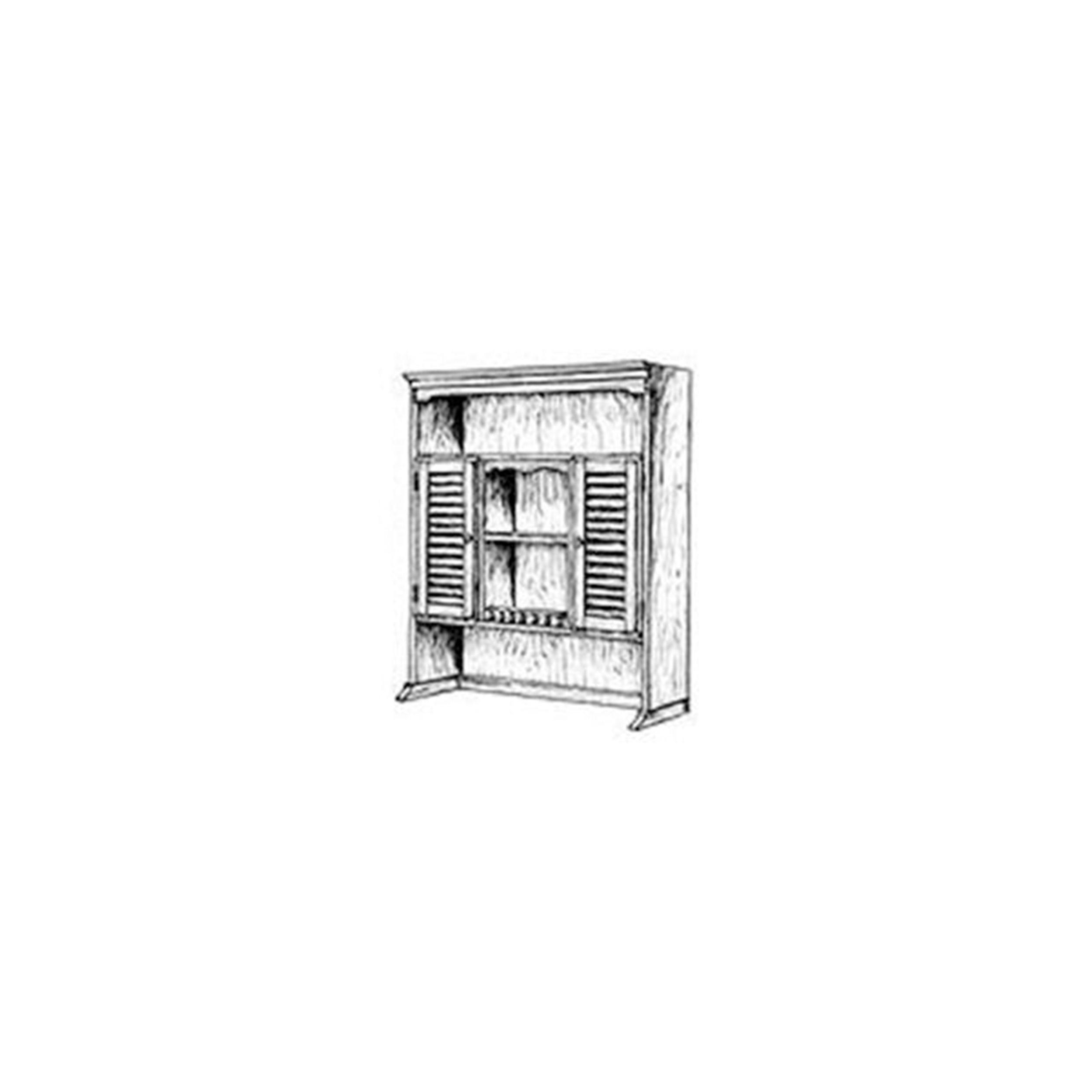 Woodworking Project Paper Plan to Build Bookshelf Hutch Plan II