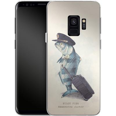 Samsung Galaxy S9 Silikon Handyhuelle - The Pilot von Eric Fan