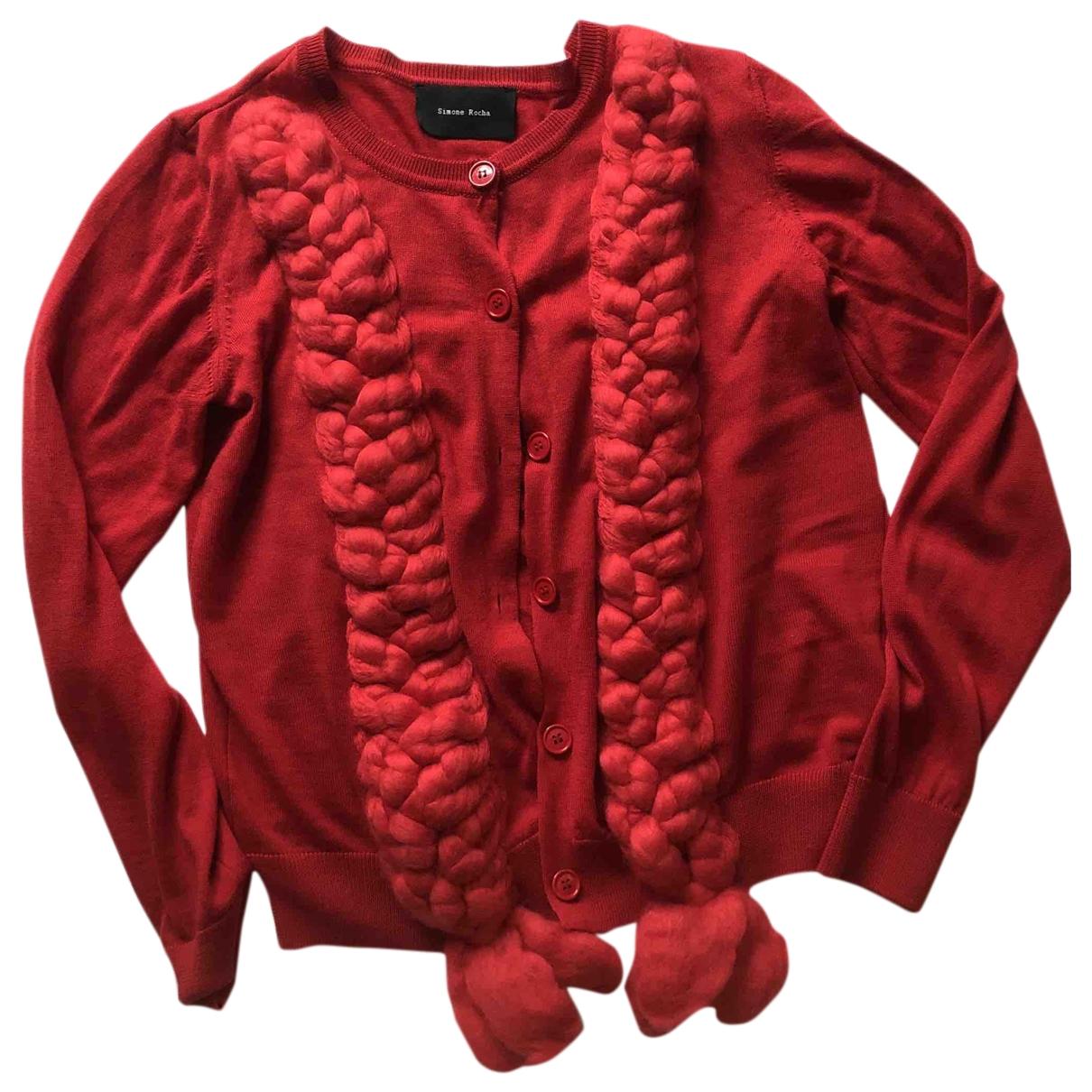 Simone Rocha - Pull   pour femme en laine - rouge