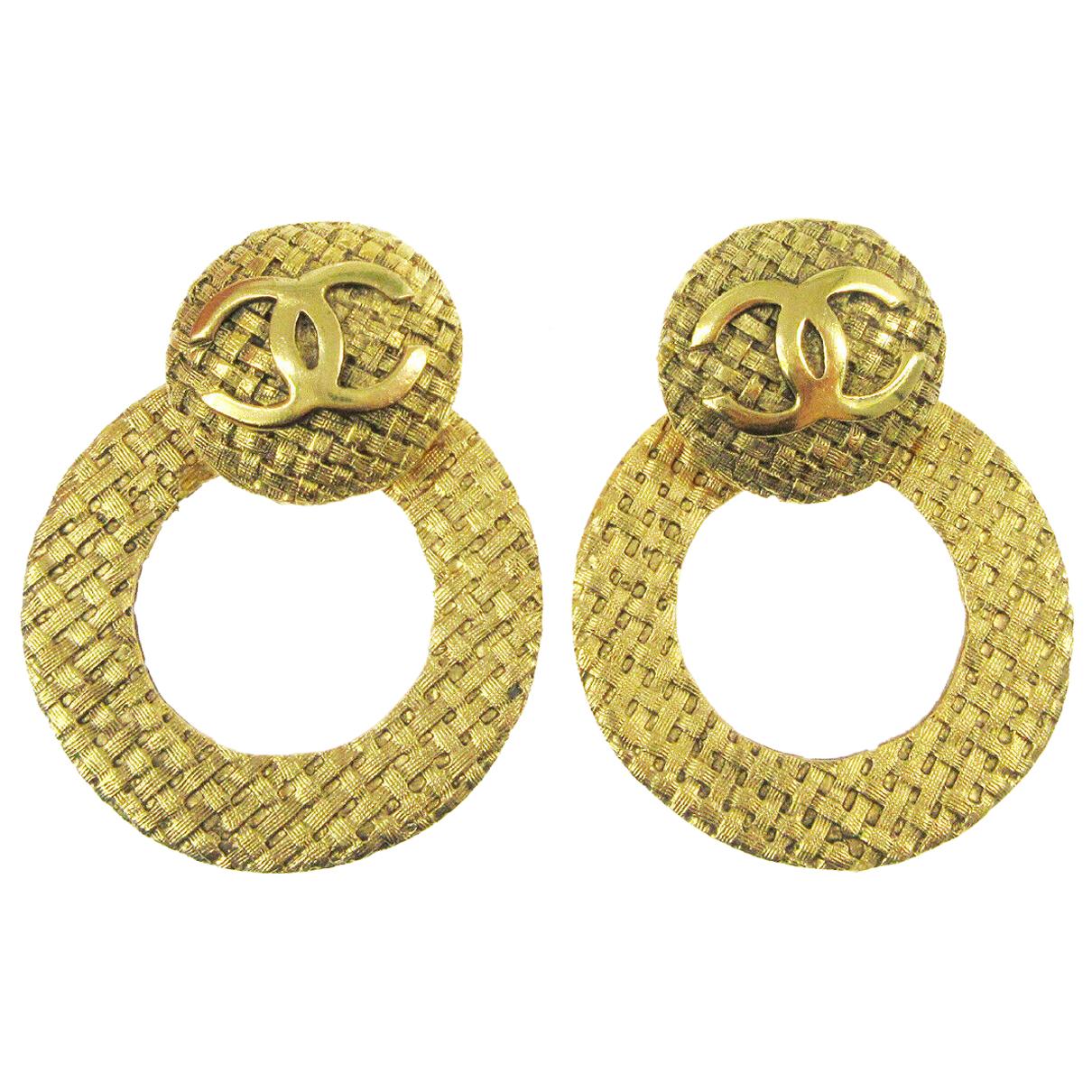 Chanel - Boucles doreilles   pour femme en autre - dore