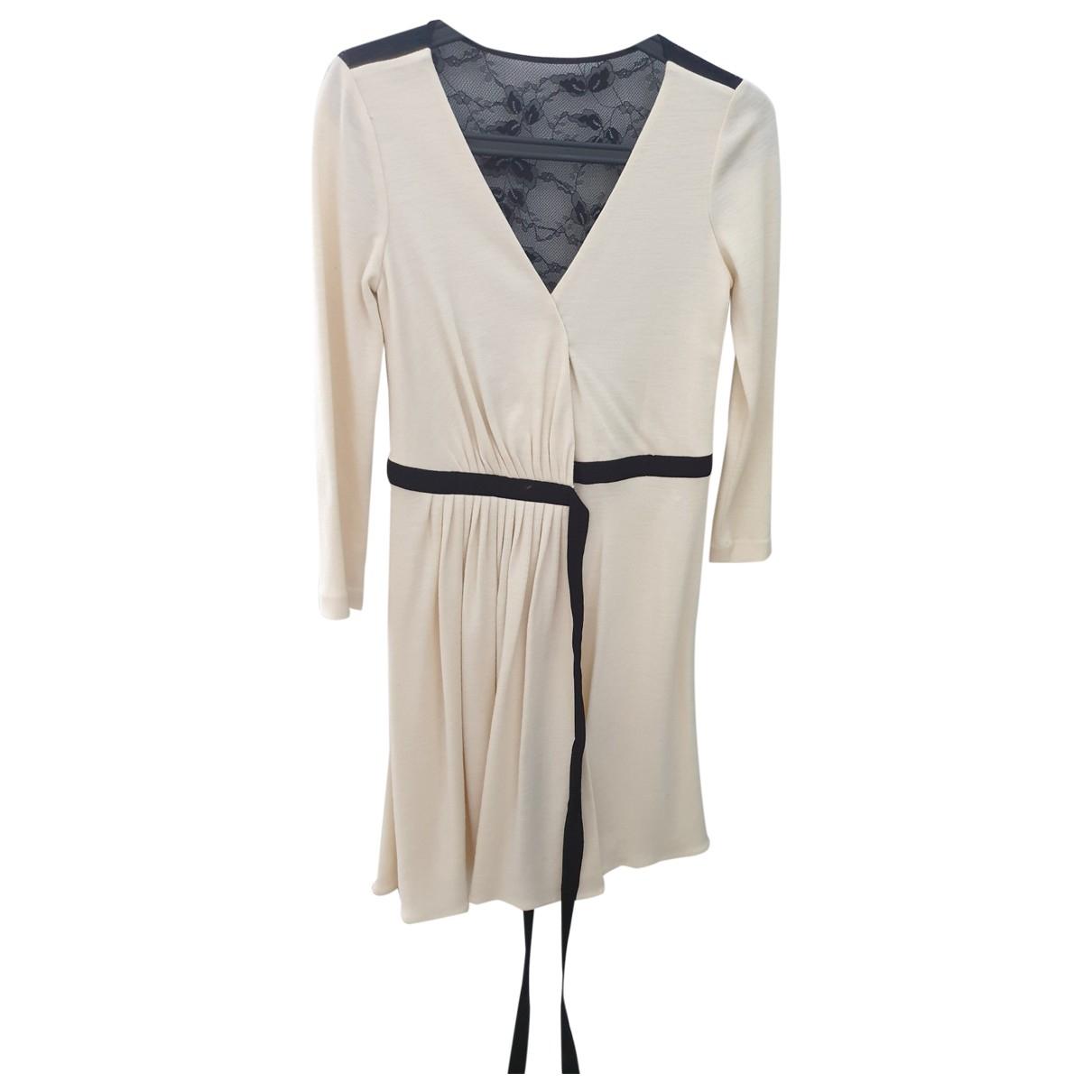 Diane Von Furstenberg \N Kleid in  Beige Polyester
