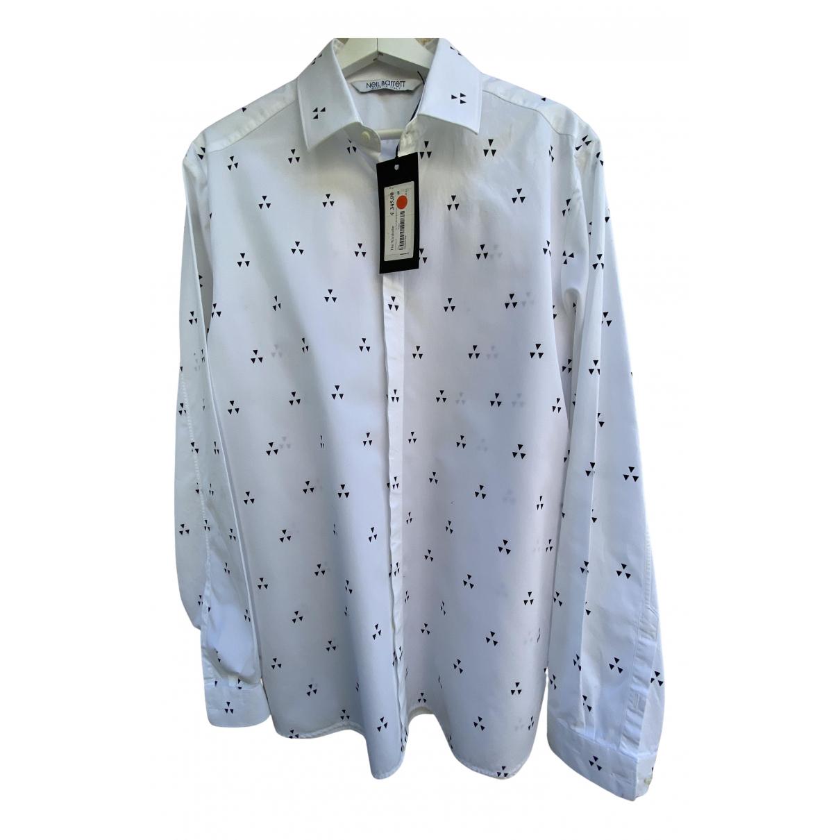 Neil Barrett - Chemises   pour homme en coton - blanc
