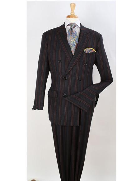 Mens Brown Double Breasted Suit