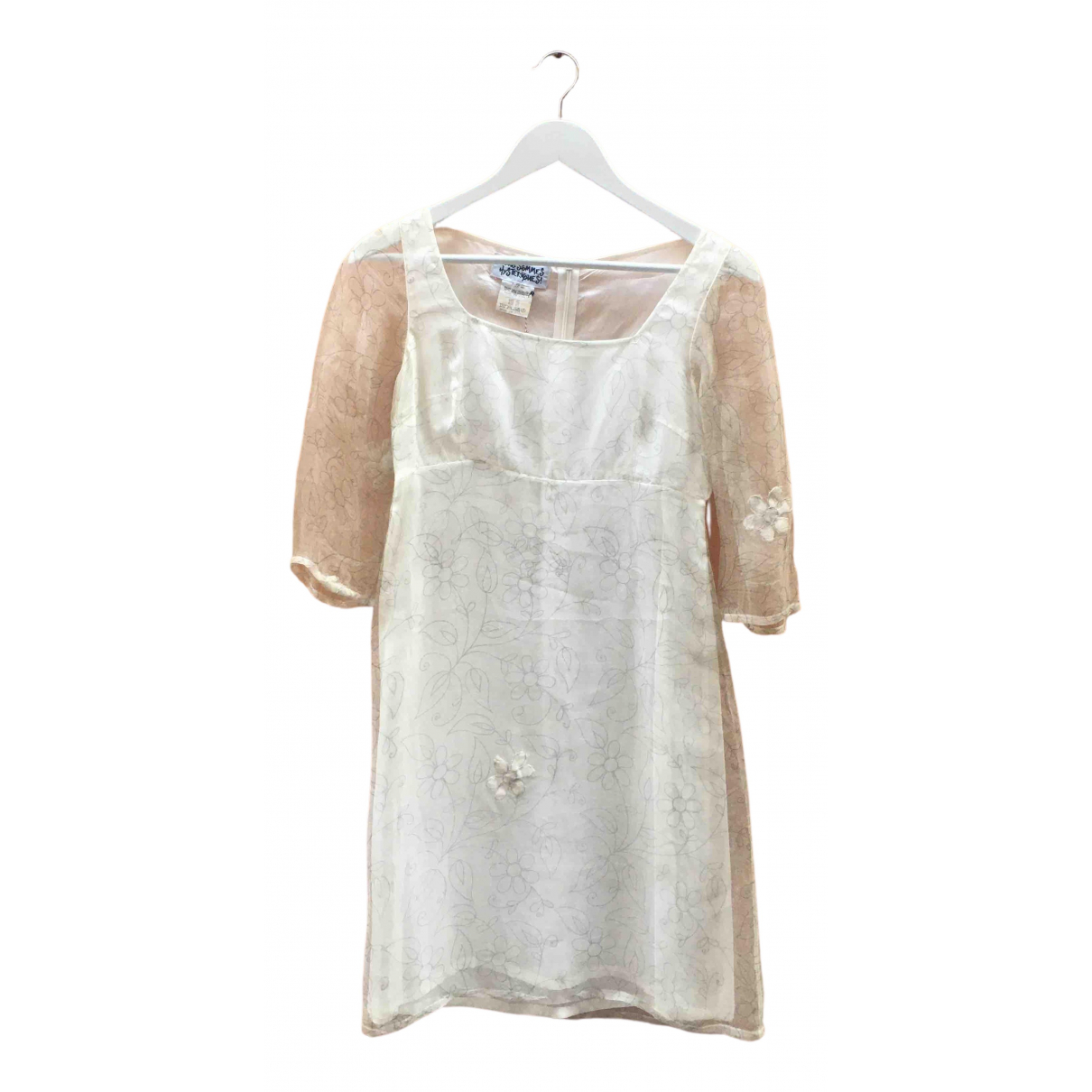 Non Signé / Unsigned Hippie Chic White dress for Women 42 IT