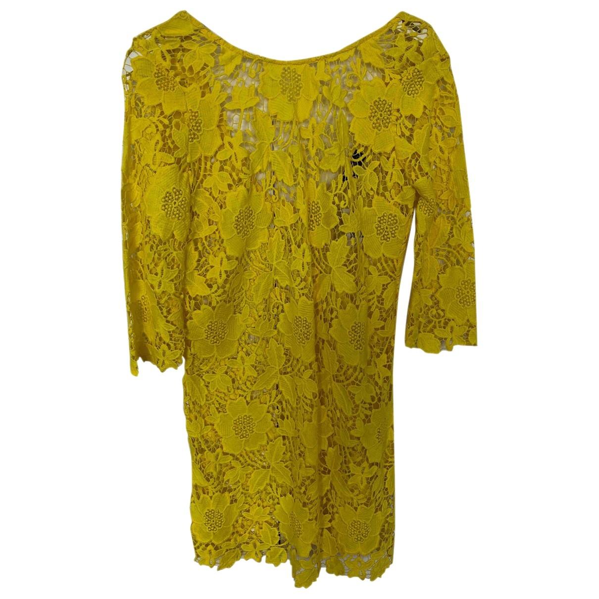 Topshop - Robe   pour femme en coton - jaune