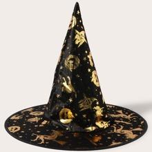 Kleinkind Kinder Hut mit Halloween Kuerbis Design