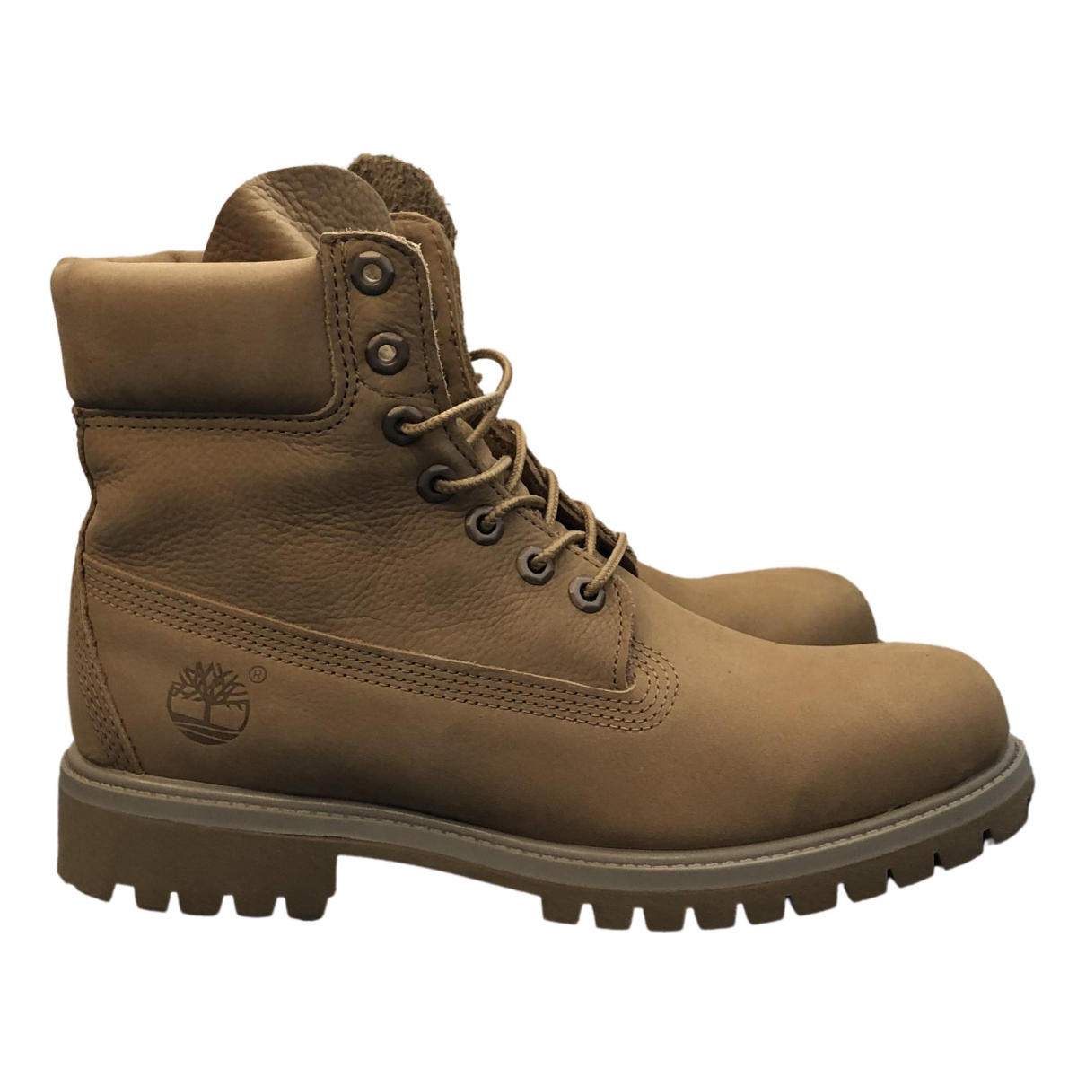 Timberland \N Yellow Leather Boots for Men 8 US