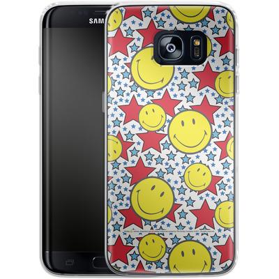 Samsung Galaxy S7 Edge Silikon Handyhuelle - Preppy Colors von Smiley®