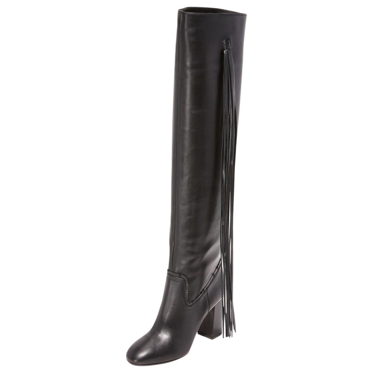 Aquazzura N Black Leather Boots for Women 38 EU