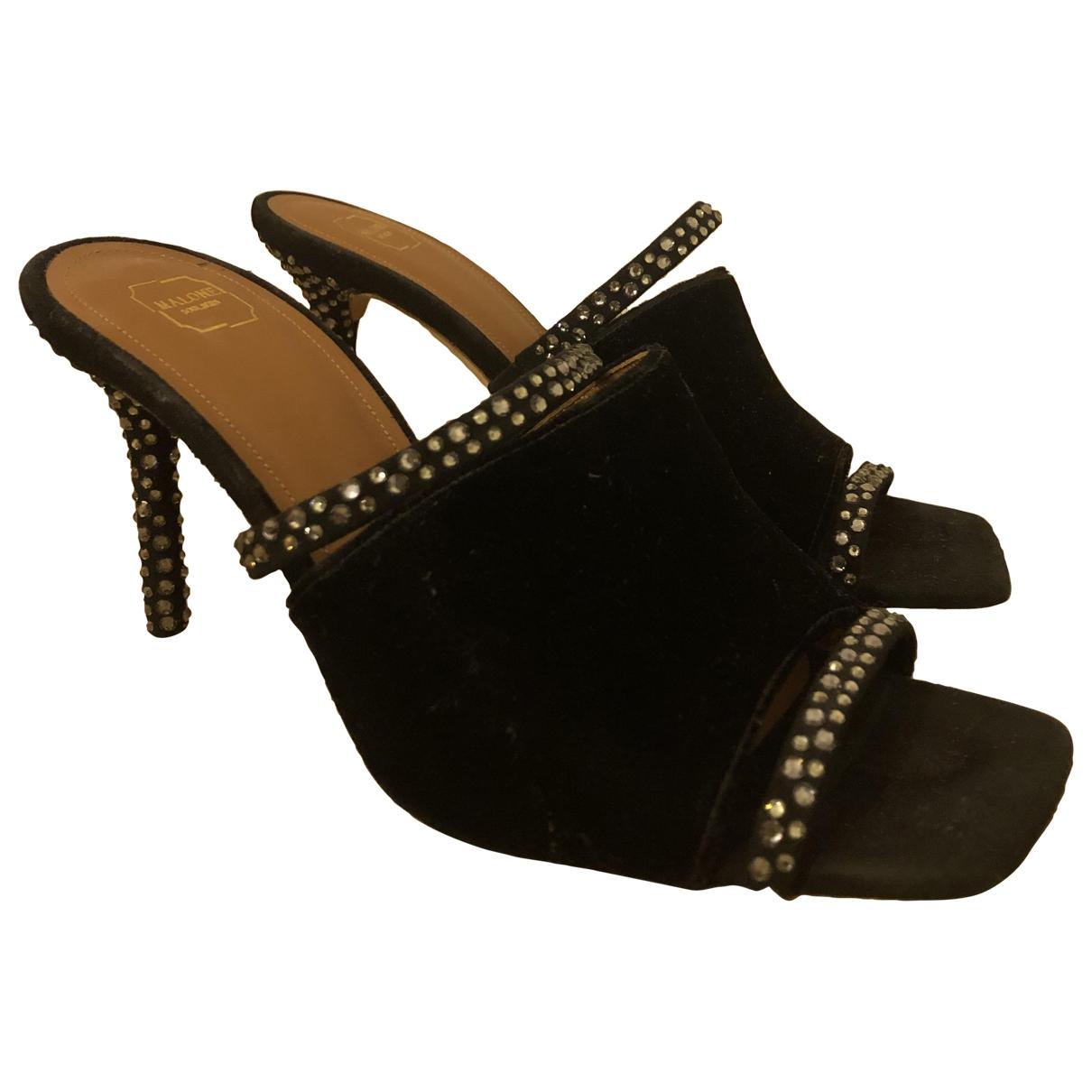 Malone Souliers - Sandales   pour femme en velours - noir