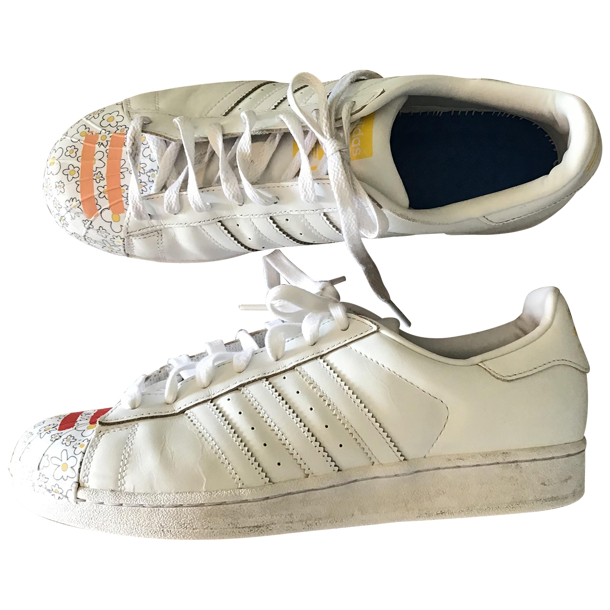 Adidas Superstar White Leather Trainers for Men 10 UK