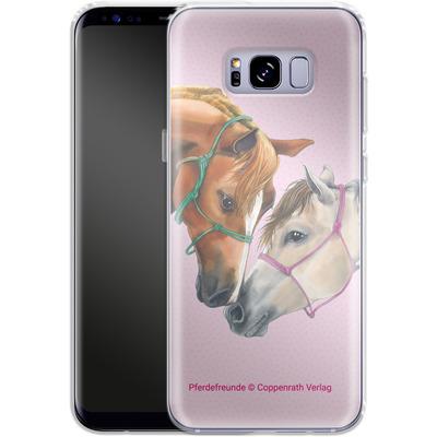 Samsung Galaxy S8 Plus Silikon Handyhuelle - Pferdefreunde Freundschaft von Pferdefreunde