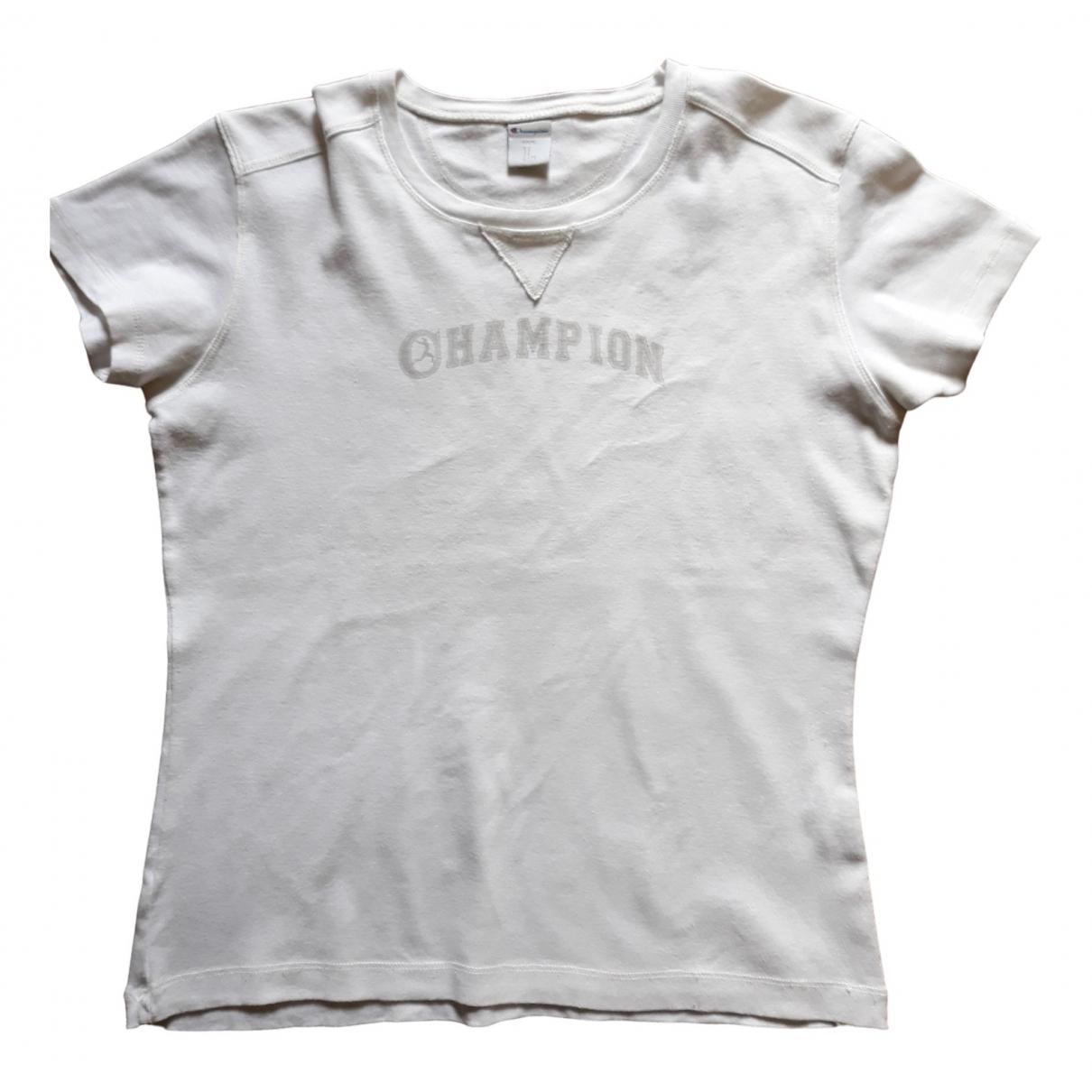 Champion \N White Cotton  top for Women L International