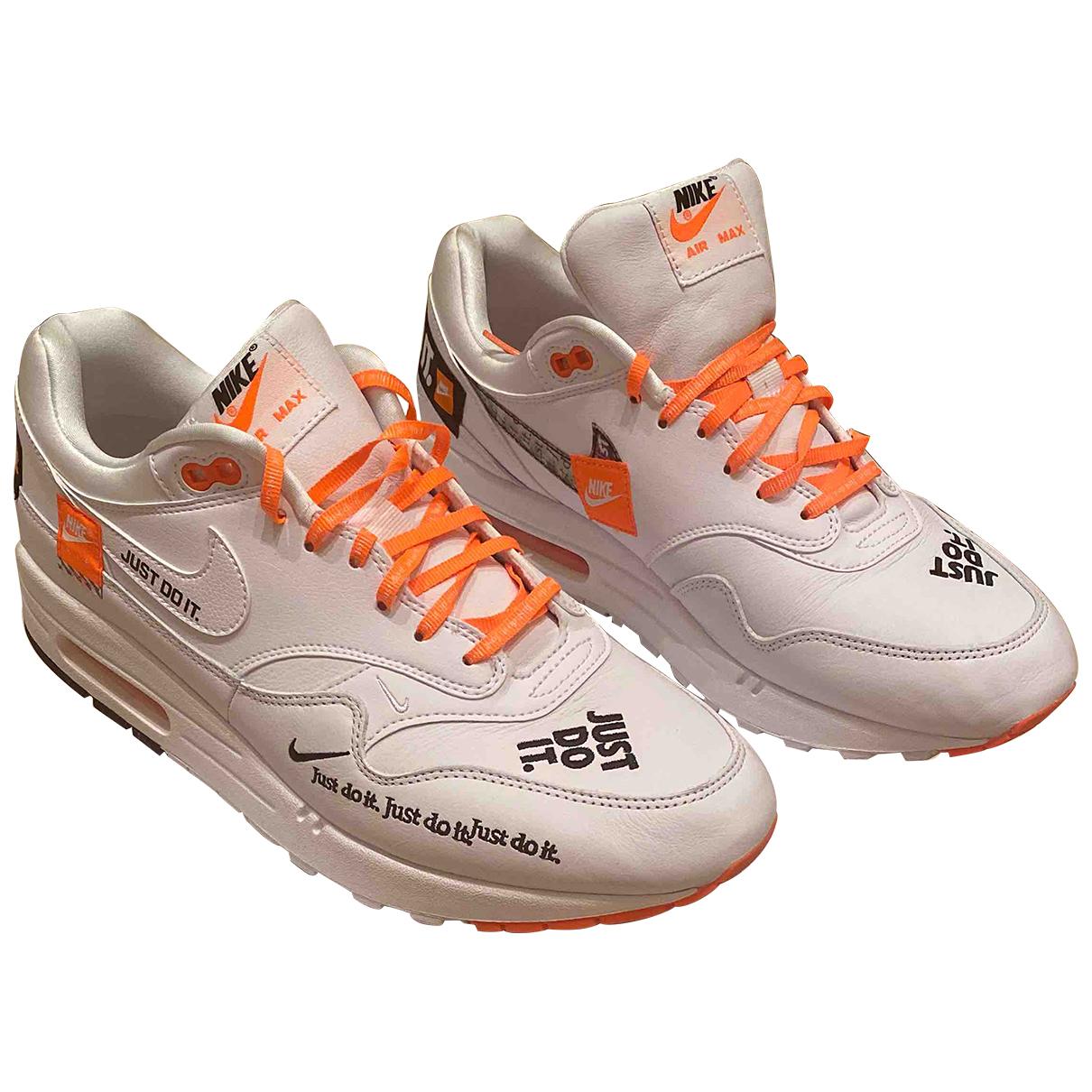 Nike - Baskets   pour homme en cuir - blanc