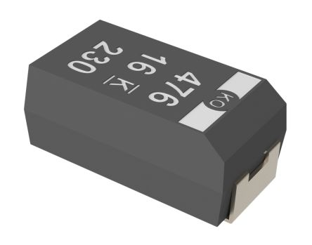 KEMET Tantalum Capacitor 47μF 16V dc Polymer Solid ±20% Tolerance , T520